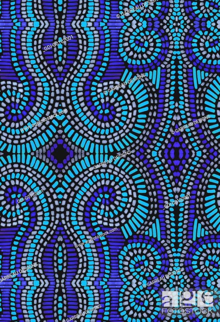 Imagen: Blue mosaic pattern.