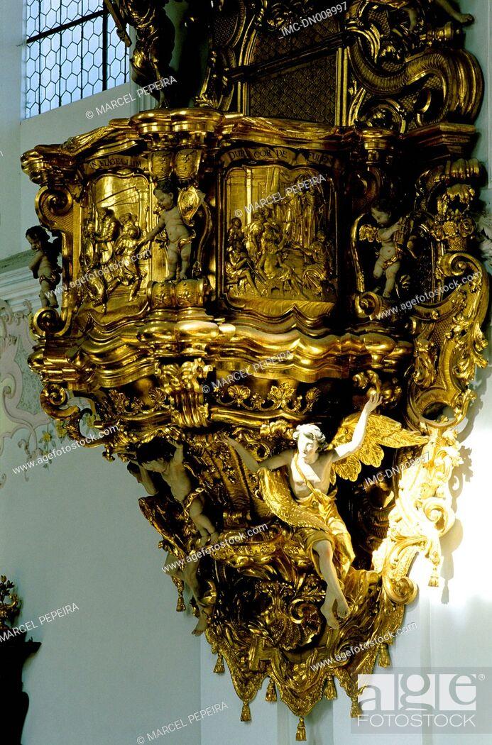 Imagen: Austria, Tyrol, Stift Stams, rostrum of the church.