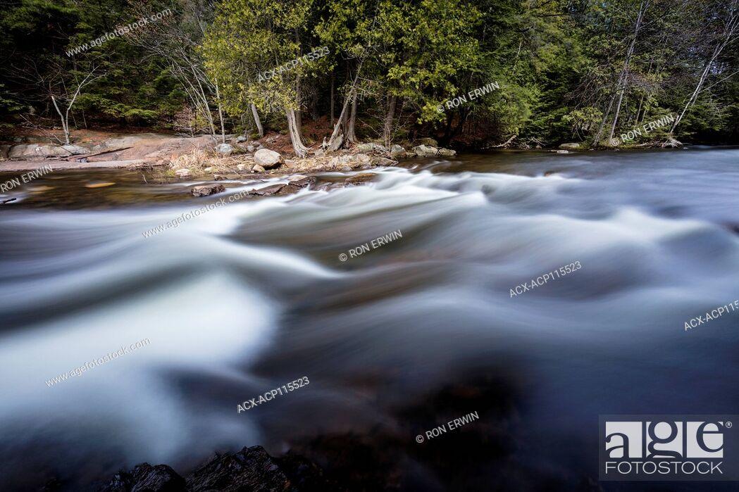 Stock Photo: Rapids in Killarney Provincial Park, Ontario, Canada.