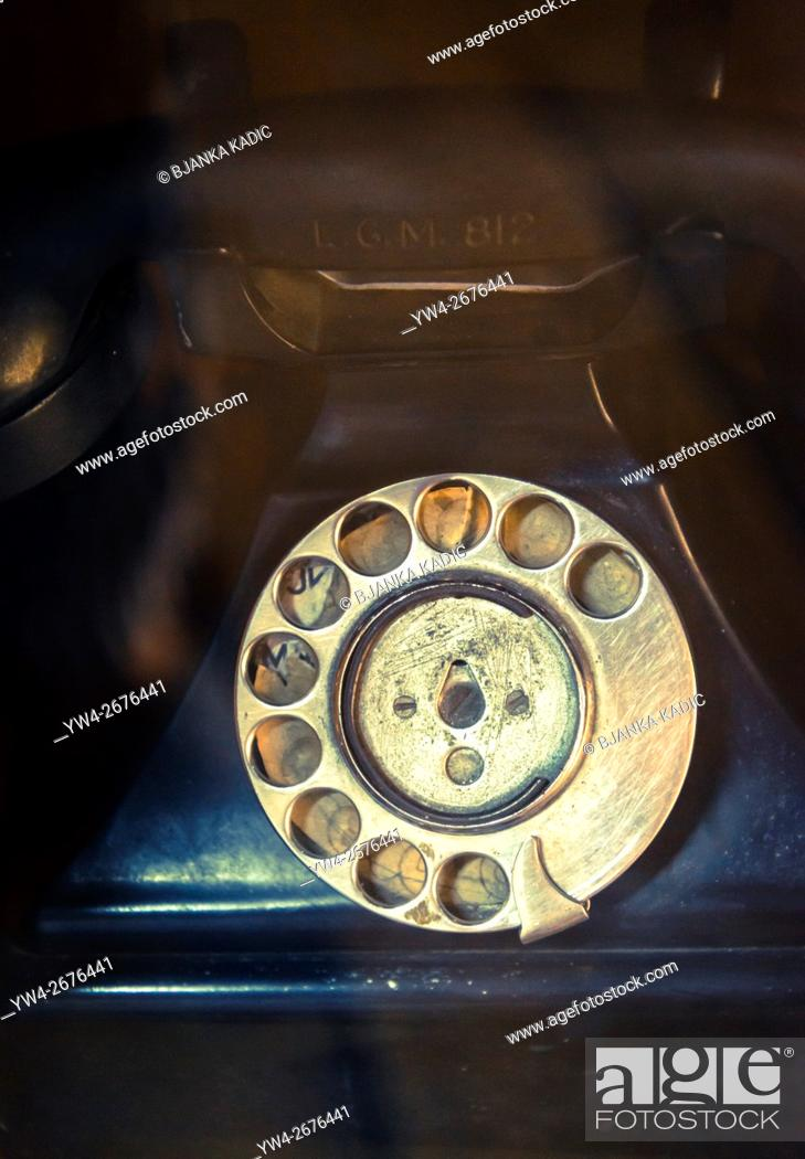 Photo de stock: Telephone with rubbed out numbers.