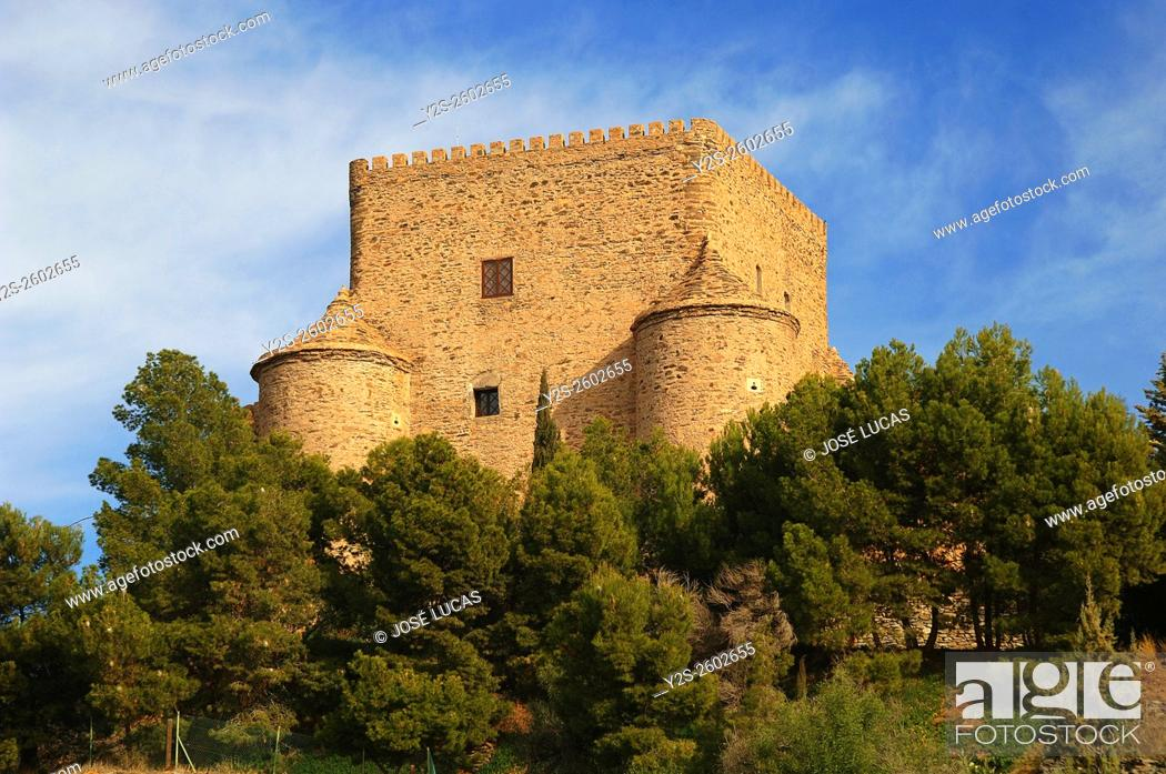 Stock Photo: Castle, Gergal, Mountain range of the Filabres, Almeria province, Region of Andalusia, Spain, Europe.