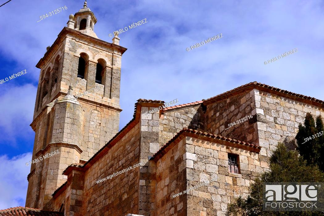 Imagen: Church of Santa Cruz in Tordomar, Burgos, Spain.