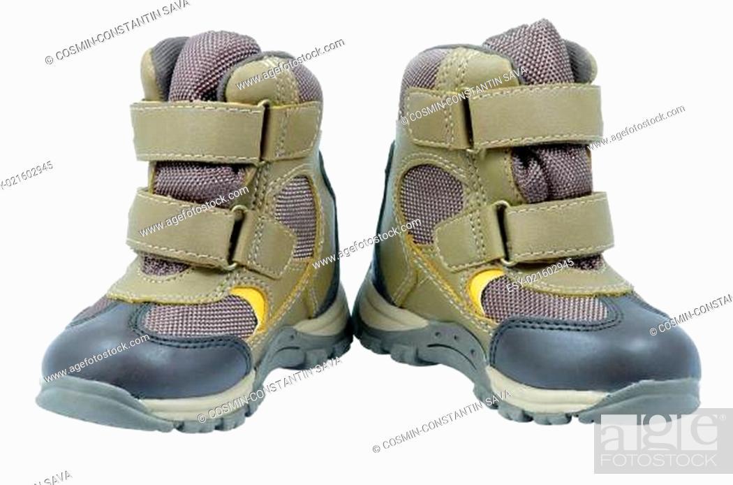 Stock Photo: Children&#039 s boots.
