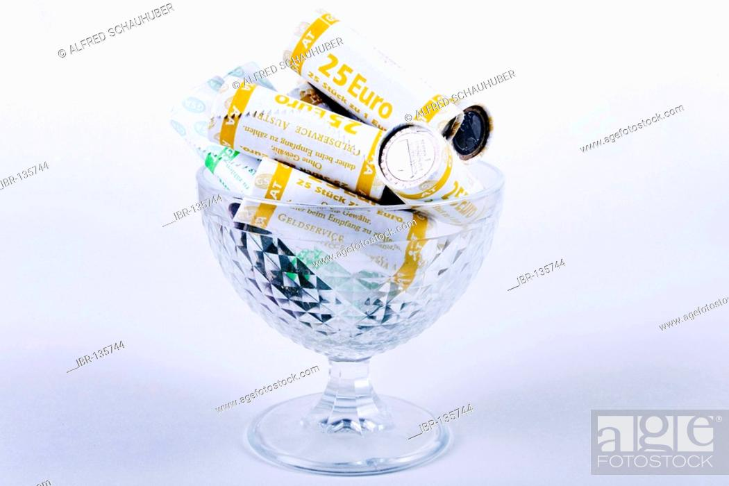 Stock Photo: Rouleaus in a glass.