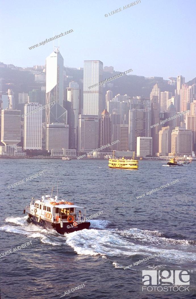 Stock Photo: Hong-Kong - Baie de Hong-Kong.