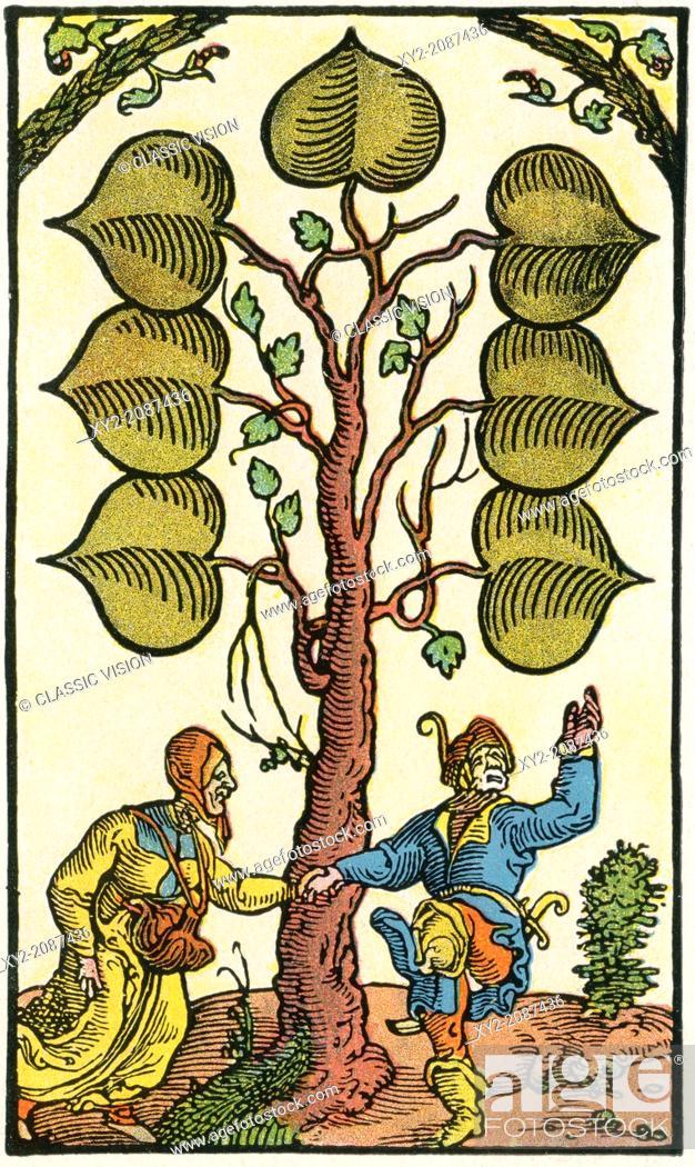Stock Photo: 16th century German playing card. From Illustrierte Sittengeschichte vom Mittelalter bis zur Gegenwart by Eduard Fuchs, published 1909.