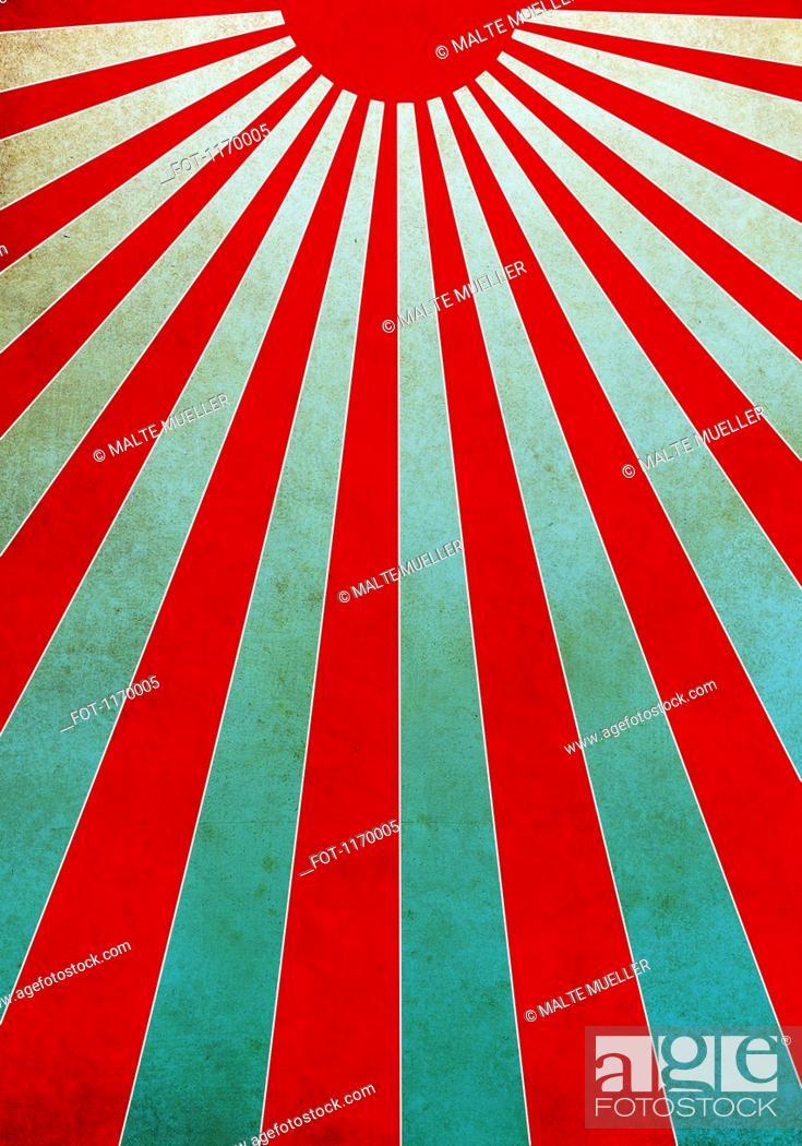 Stock Photo: Red sunbeams illustration.