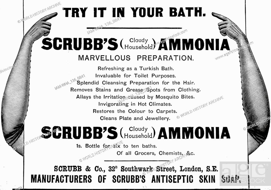 An advertisement for Scrubb's Cloudy Ammonia  Dated 19th