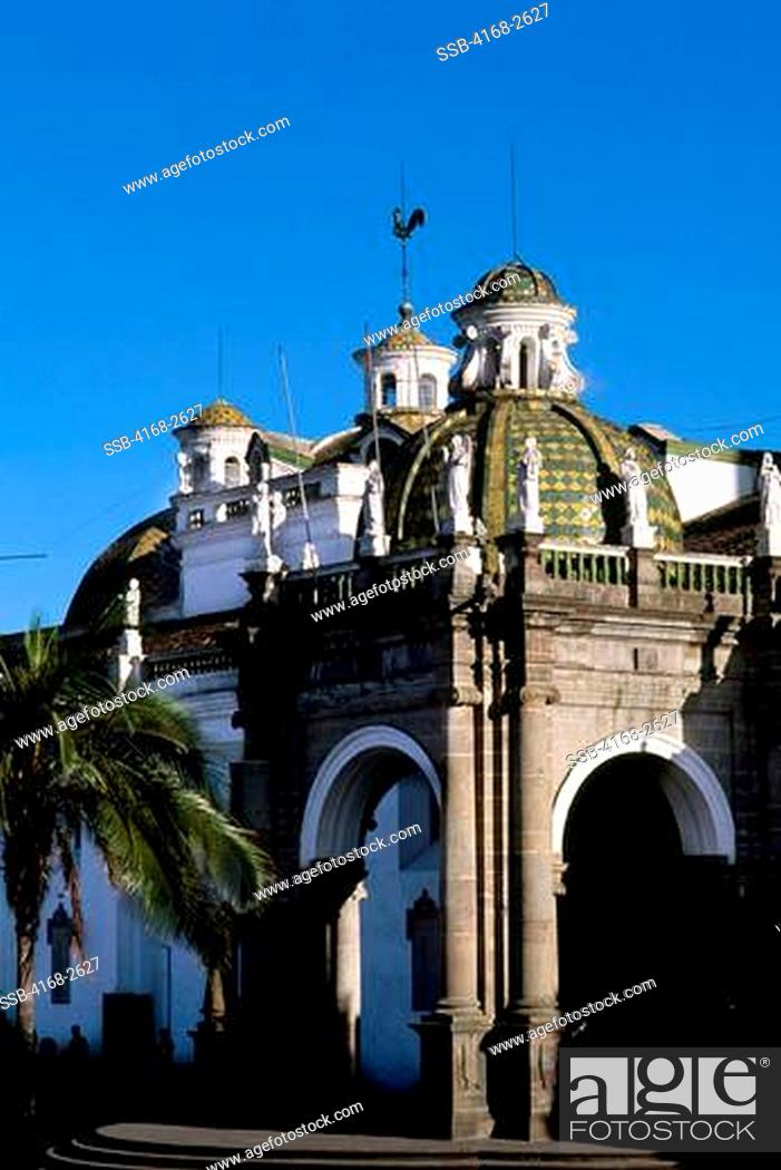 Ecuador Quito Old City Plaza Grande Spanish Colonial