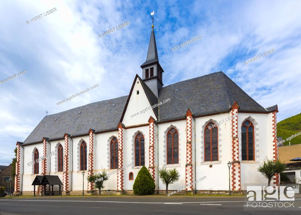 Stock Photo: The monastery church of the former Minorites monastery in Merl at the Moselle. Rhineland-Palatinate, Germany, Europe.
