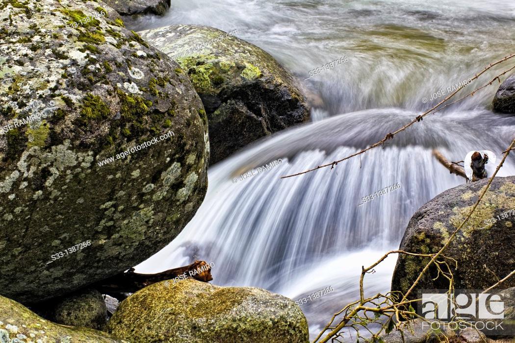 Stock Photo: The Iruelas river in the Sierra de Gredos  Ávila  Castilla León  Spain.