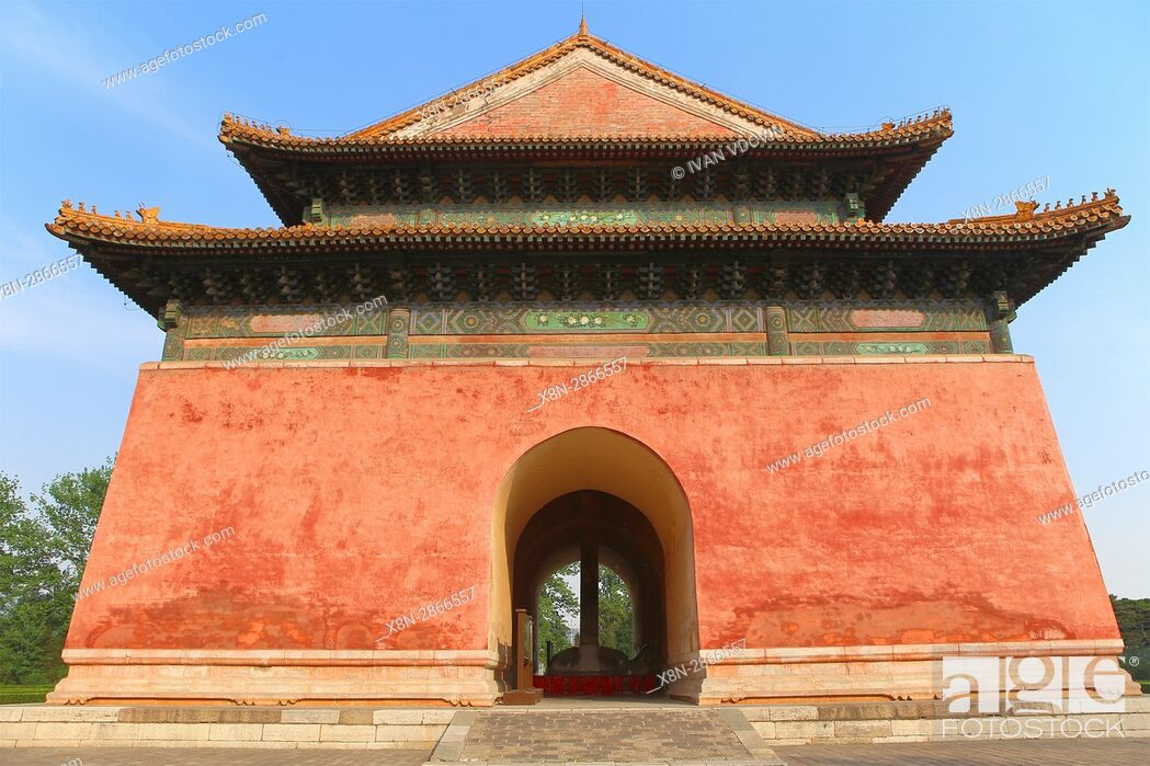 Stock Photo: Shengong Shengde Stele Pavilion, Imperial Tombs of the Ming and Qing Dynasties, near Beijing, China.