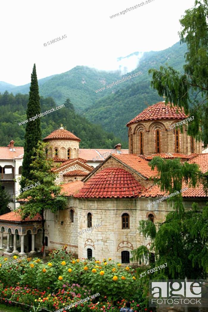 Stock Photo: Bulgaria, Batchkovo, monastery.