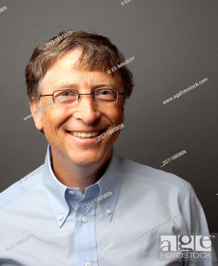 Stock Photo: Bill Gates Studio Headshot Portrait, 2010.