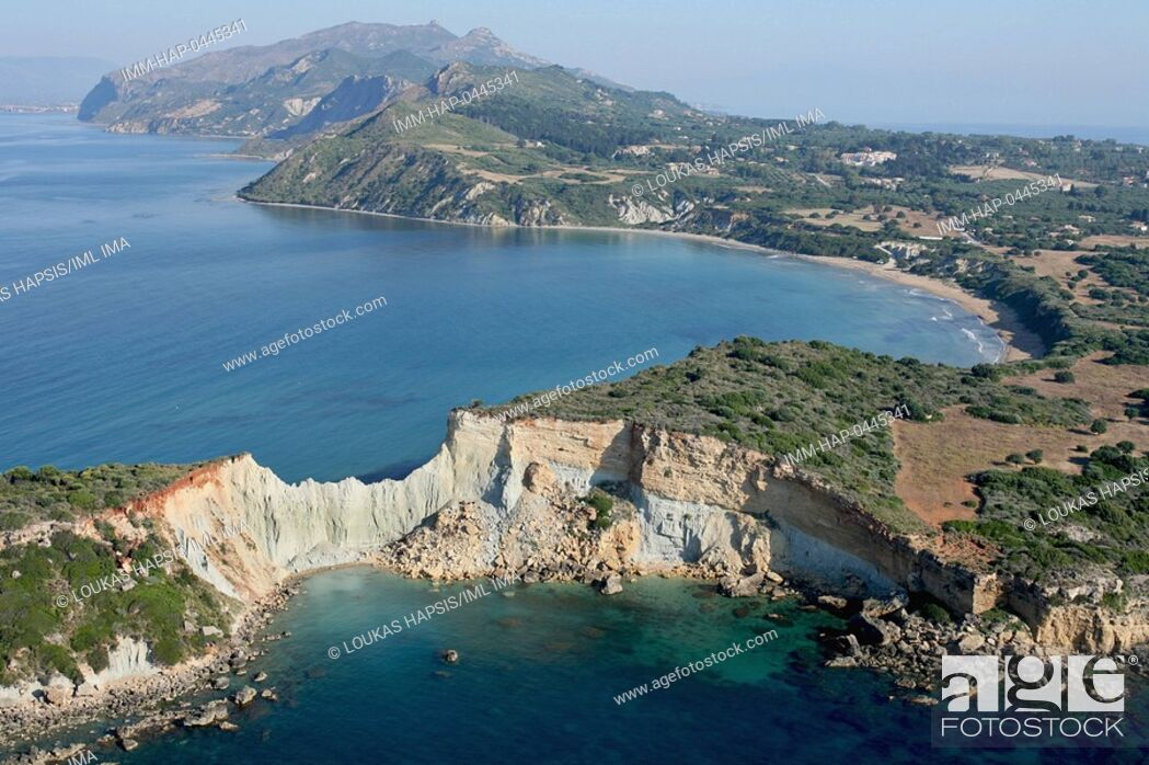 Stock Photo: Aerial view of Gerakas. Zakynthos, Ionian Islands, Greece, Europe.