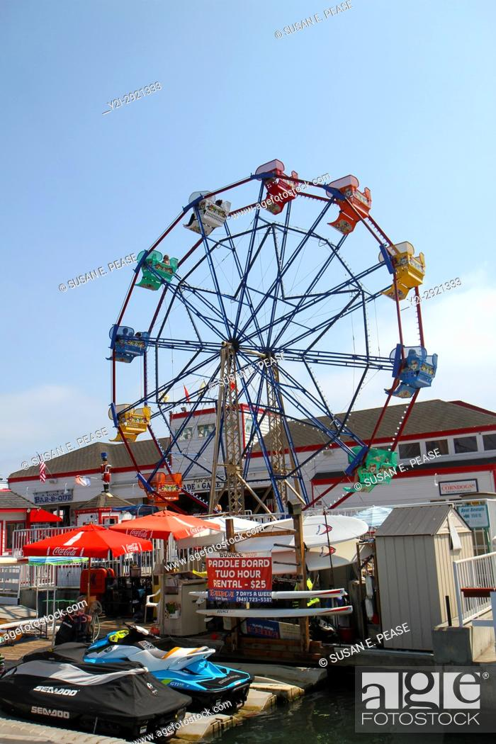 Stock Photo Ferris Wheel Balboa Village Fun Zone Peninsula Newport Beach