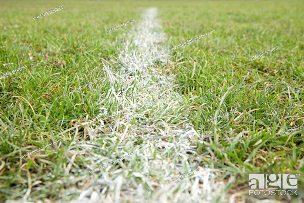 Stock Photo: Line of a football pitch.