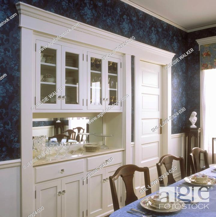 China Cabinet And Buffet In A Red