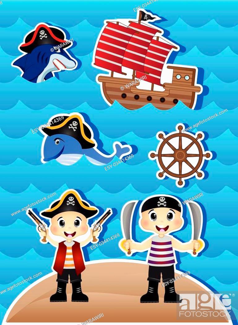 Stock Vector: Pirates Cartoon for your design vector.