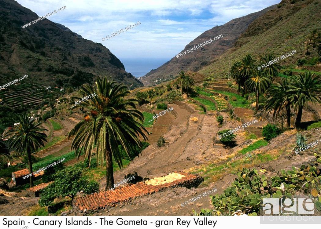 Stock Photo: Spain - La Gometa - Gran Rey Valley Spain.