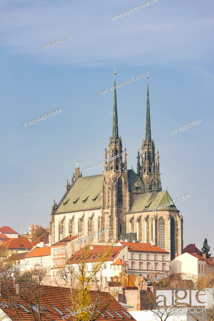 Stock Photo: Petrov, Cathedral of St. Peter and Paul, Brno, Czech Republic.