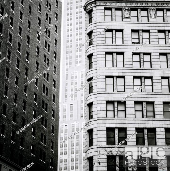 Stock Photo: Buildings in Manhattan in New York City in the United States of America USA.