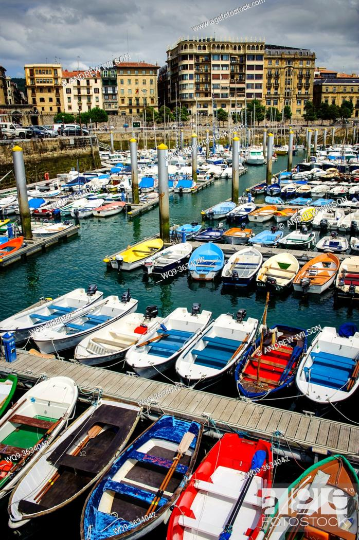 Stock Photo: Marina at San Sebastian, Cantabria, Spain.