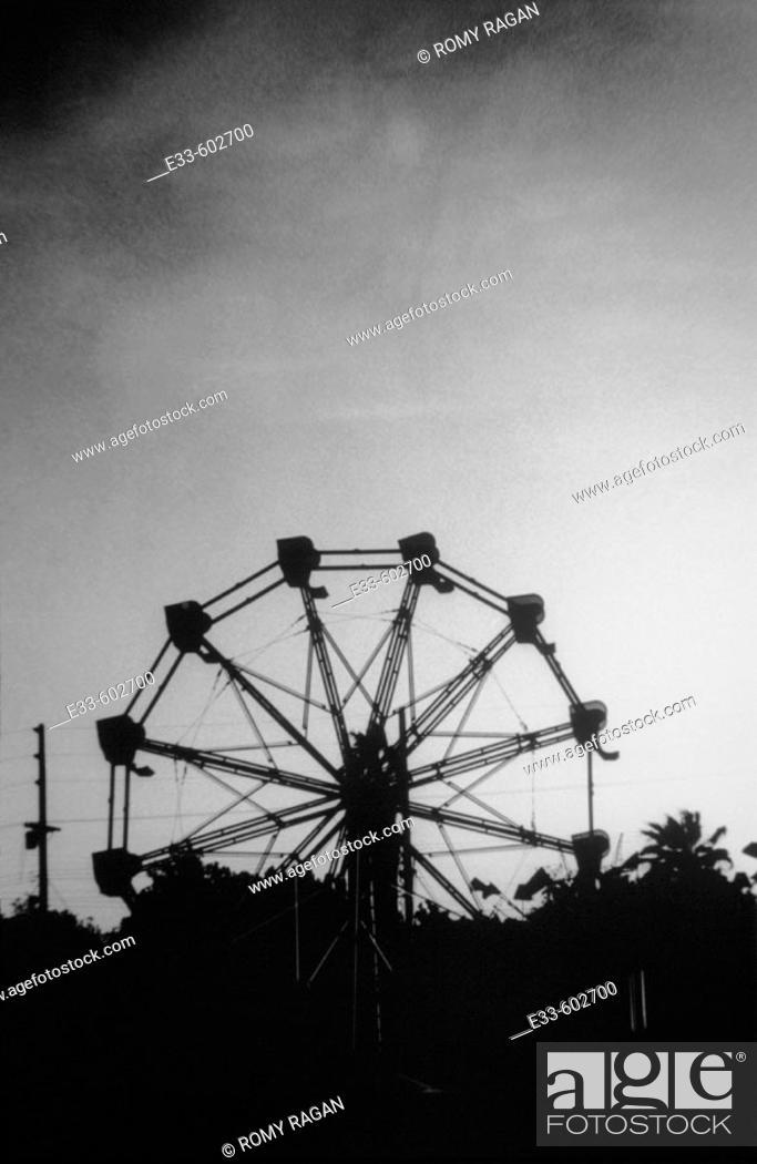 Stock Photo: Ferris wheel silhouette.