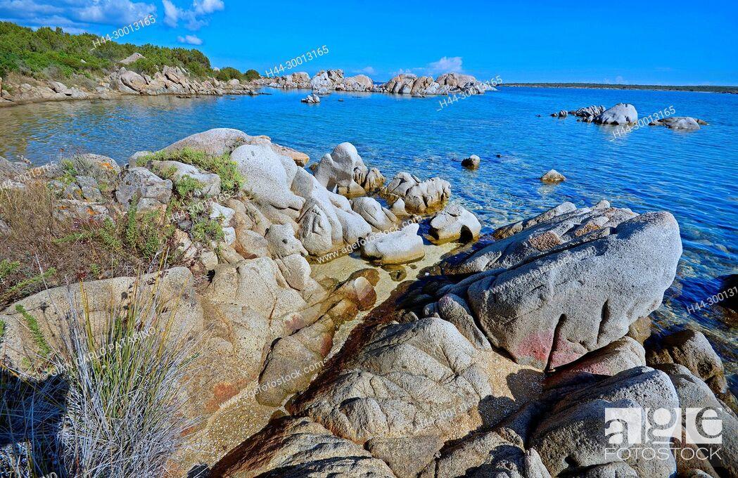 Stock Photo: Sardinia, Italy rocks and sea at Beach.