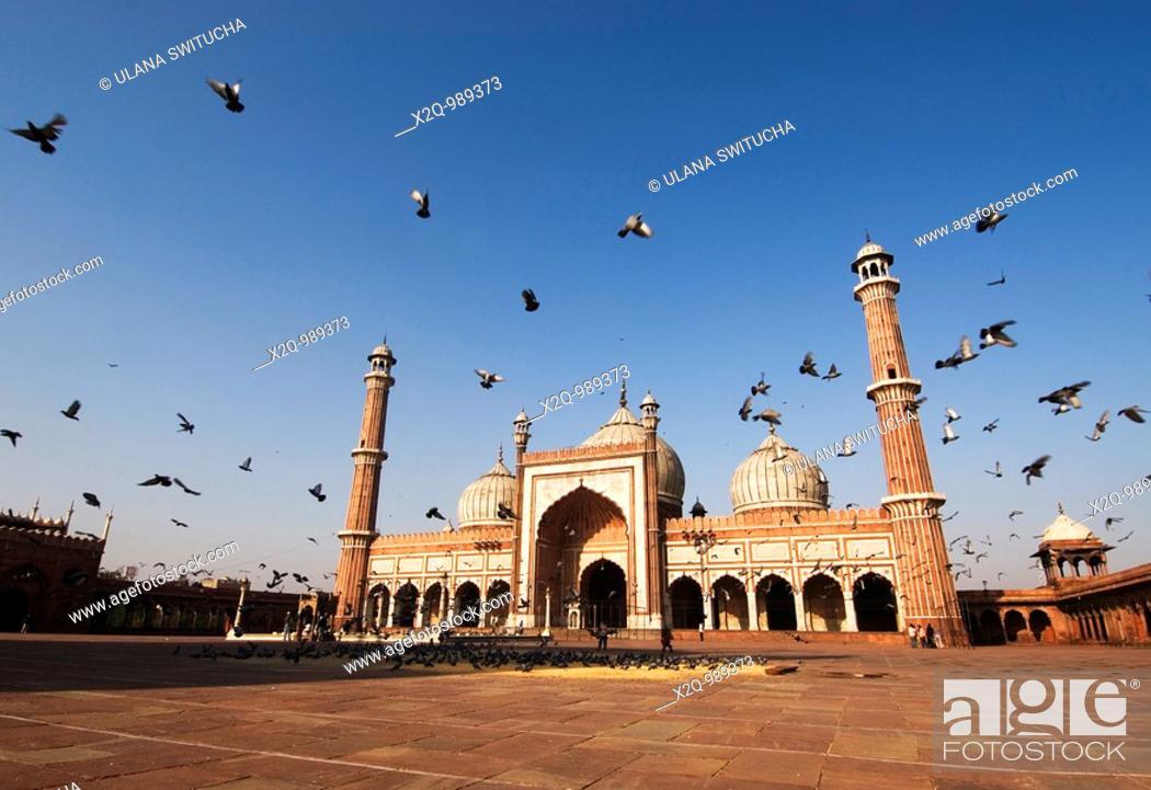 Stock Photo: Jama Masjid Mosque Old Delhi India.