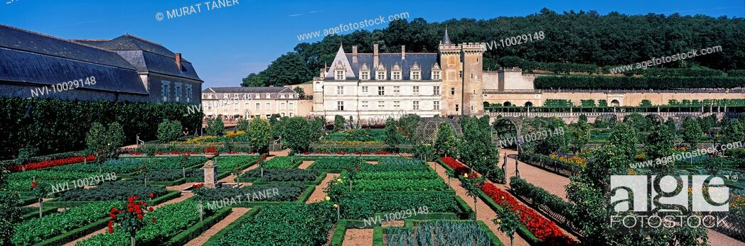 Stock Photo: Chateau de Villandry, Villandry, France.