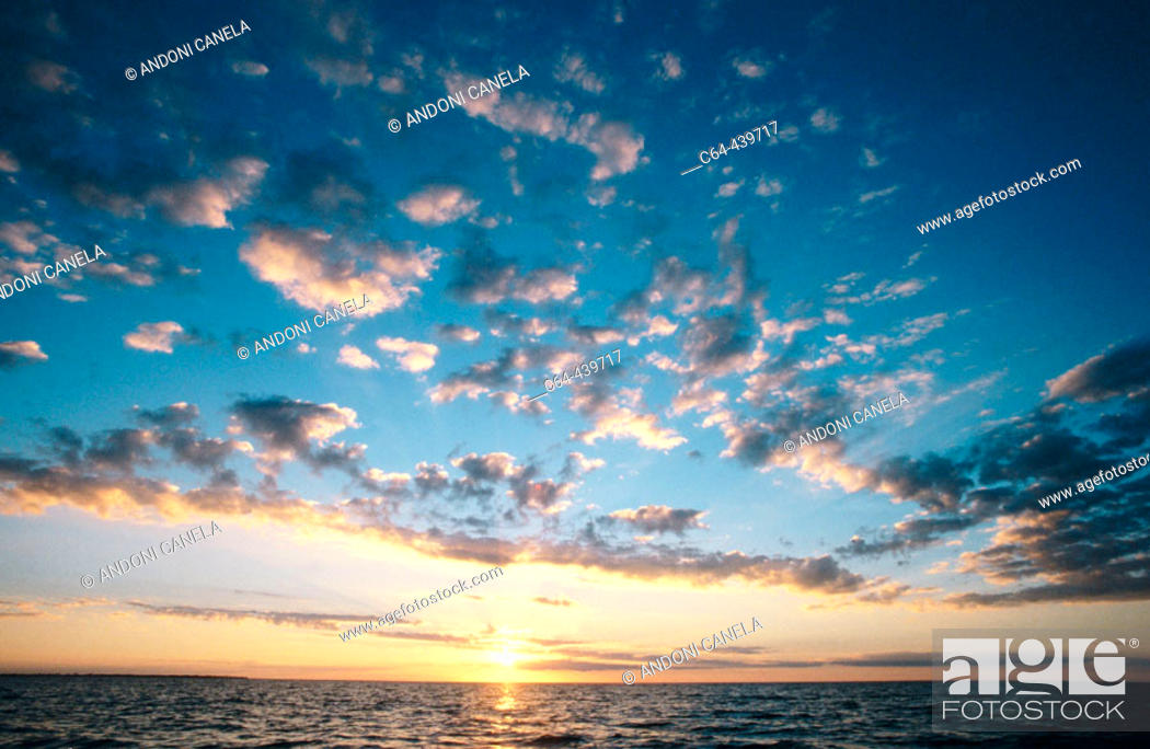 Stock Photo: Sunset. Belize Coral Reef. Yucatan. Belize.