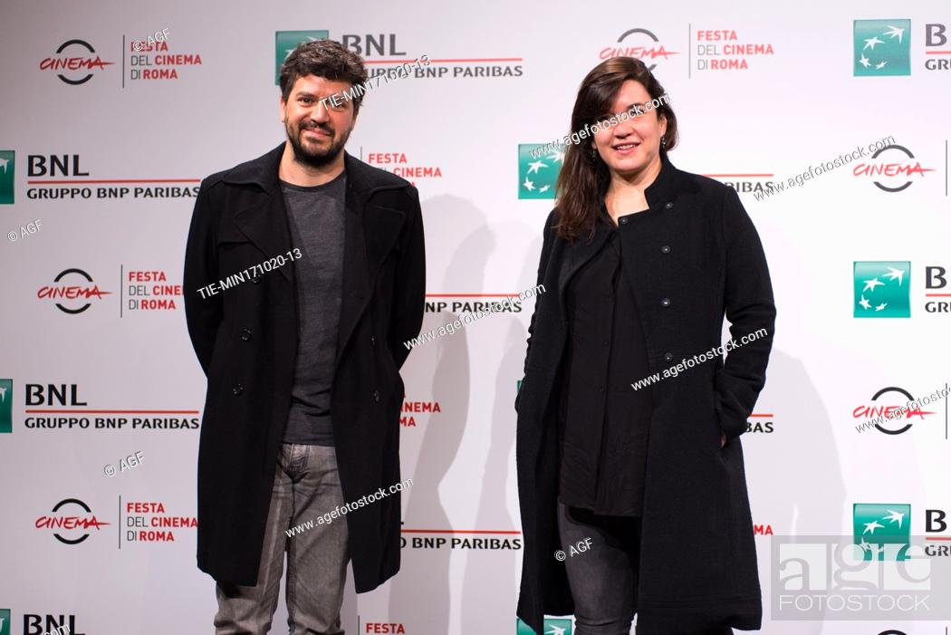 "Stock Photo: Rodrigo Fiallega, Gabriela Maldonado attends the photocall of the movie """"Richochet"""" during the 15th Rome Film Festival on October 17, 2020 in Rome, Italy."