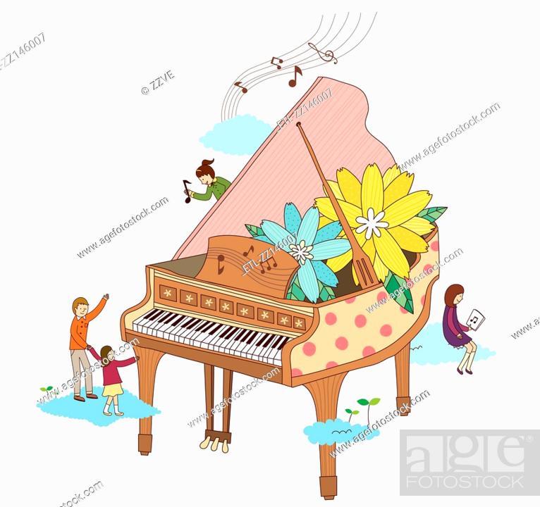 Stock Photo: Close-up of piano.