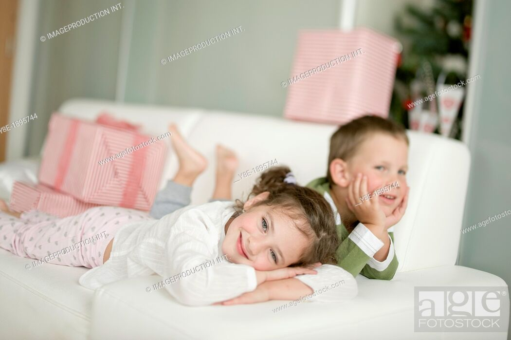 Stock Photo: Brother and sister.