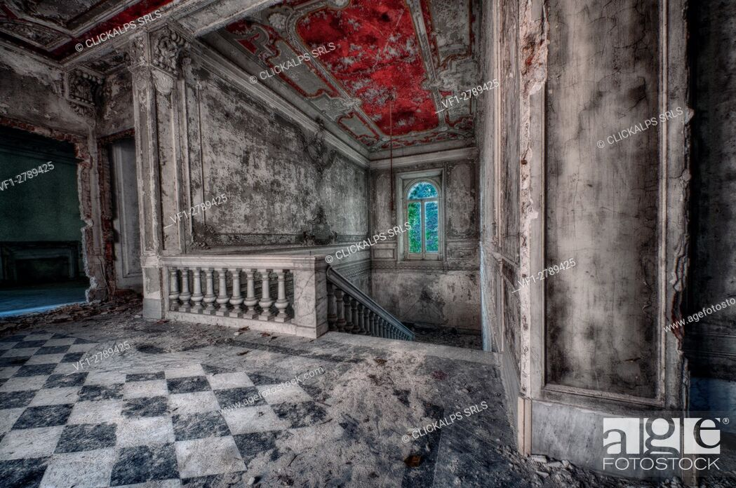 Stock Photo: Novi Ligure, Piemonte, Italy, Abandoned house 1800.
