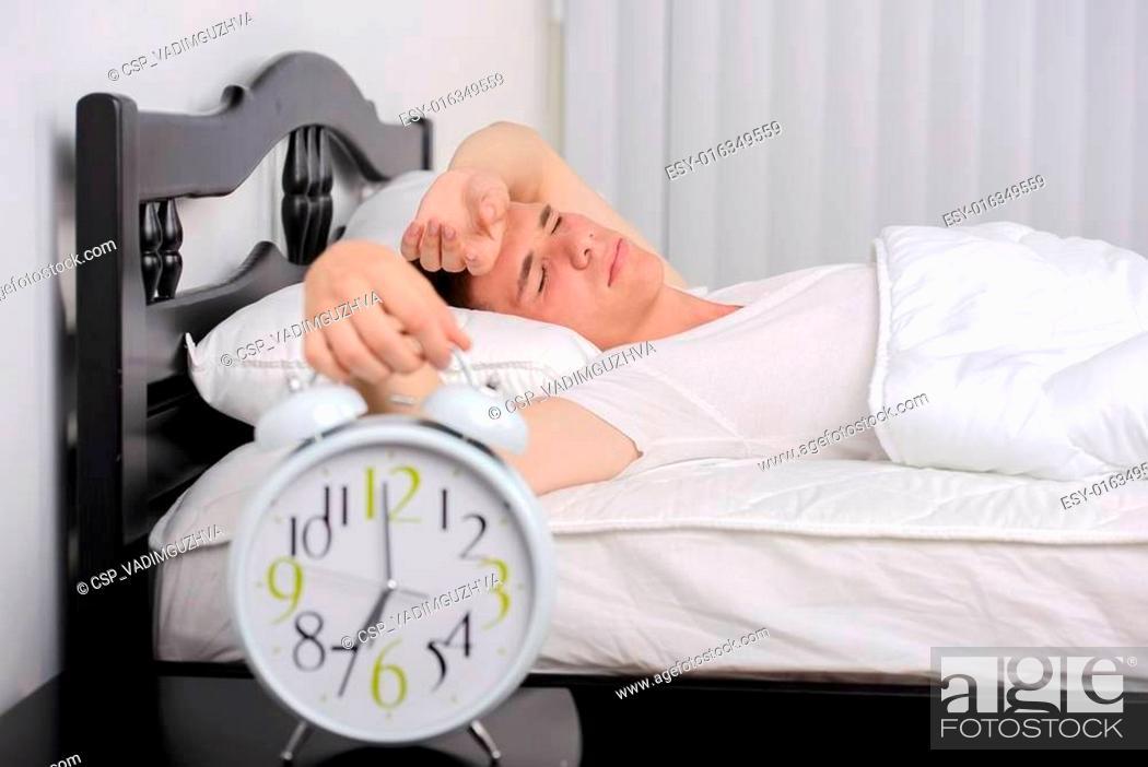Stock Photo: Man Sleeps.