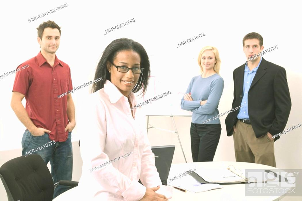 Stock Photo: Business People Looking at You.