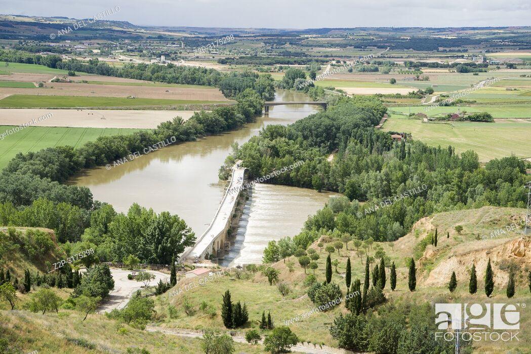 Stock Photo: Panorama from Toro city in Zamora province Castile Leon Spain. Duero river.