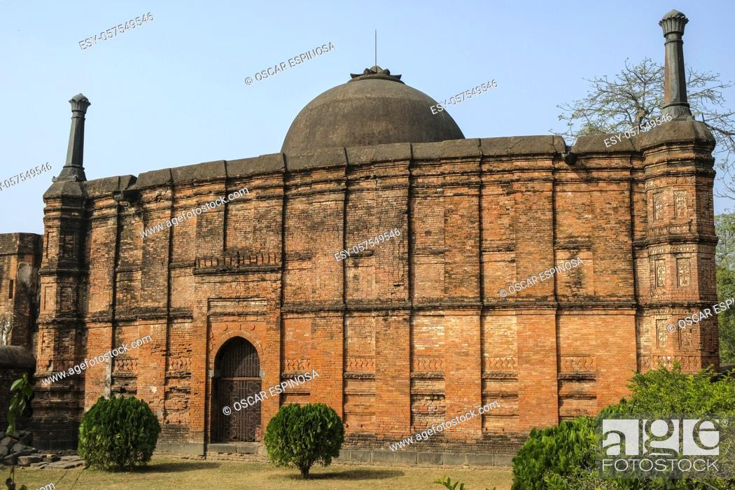 Stock Photo: Kadam Rasul Masjid are the ruins of a small mosque that was the capital of the Muslim Nawabs of Bengal in the 13th to 16th centuries in Gaur, West Bengal, India.