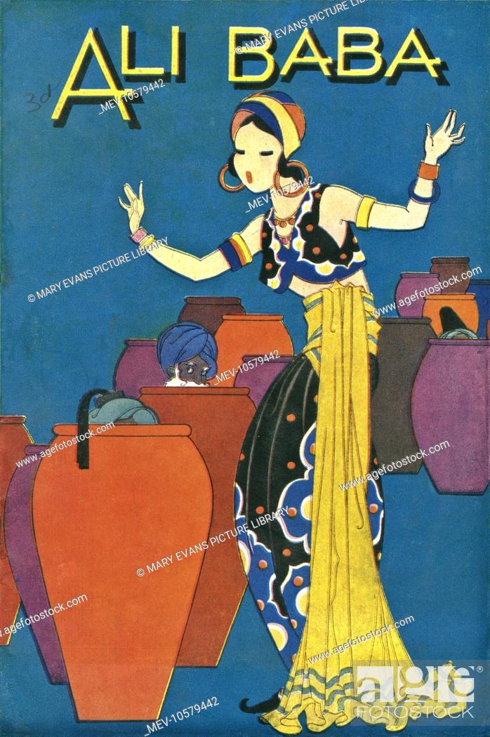 Stock Photo - Design or illustration to the Arabian Nights story of Ali  Baba and the Forty Thieves, featuring a slim woman in eastern costume, ...