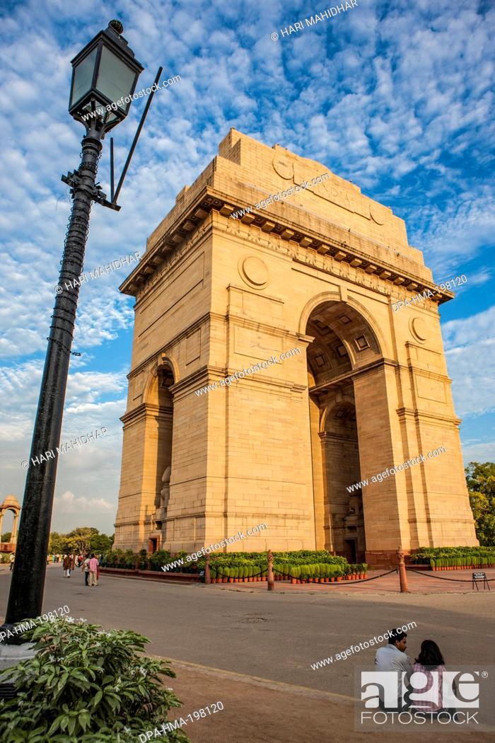 Stock Photo: India gate, new delhi, india, asia.