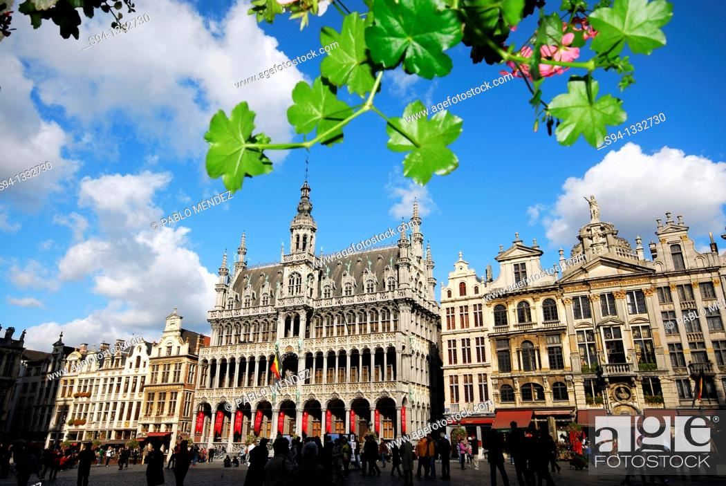Stock Photo: Grande Place, Grote Markt or Big square of Brussels, Belgium.