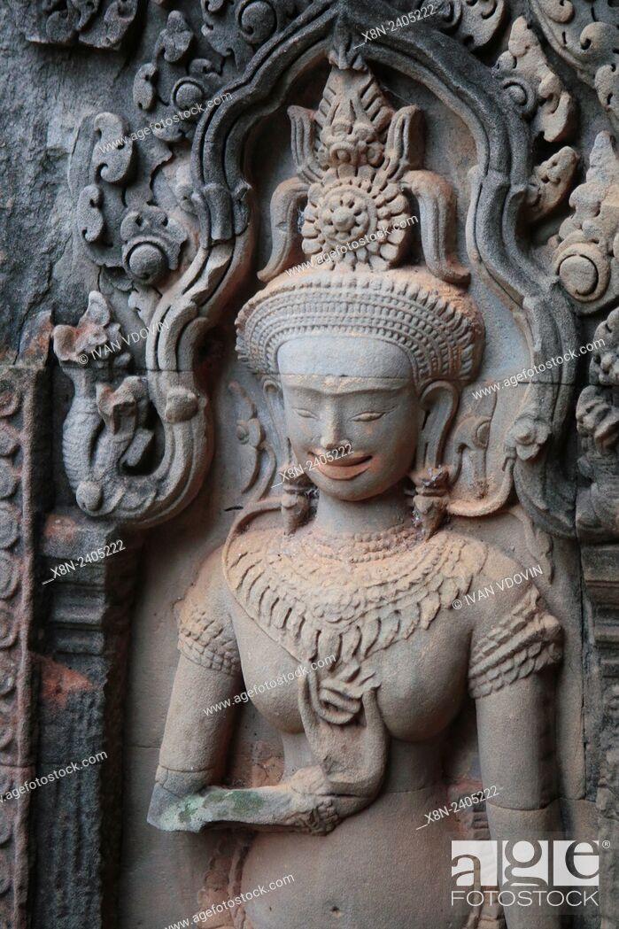 Stock Photo: Thommanon temple (12th century), Angkor, Cambodia.