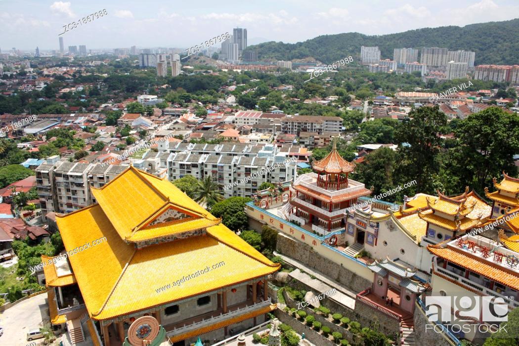 Stock Photo: Complex of Kek Lok Si Temple, Penang, Malaysia.