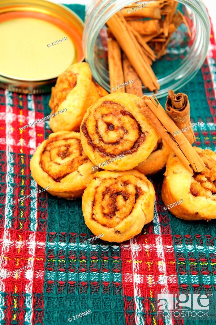 Stock Photo: Cinnamon And Rolls.