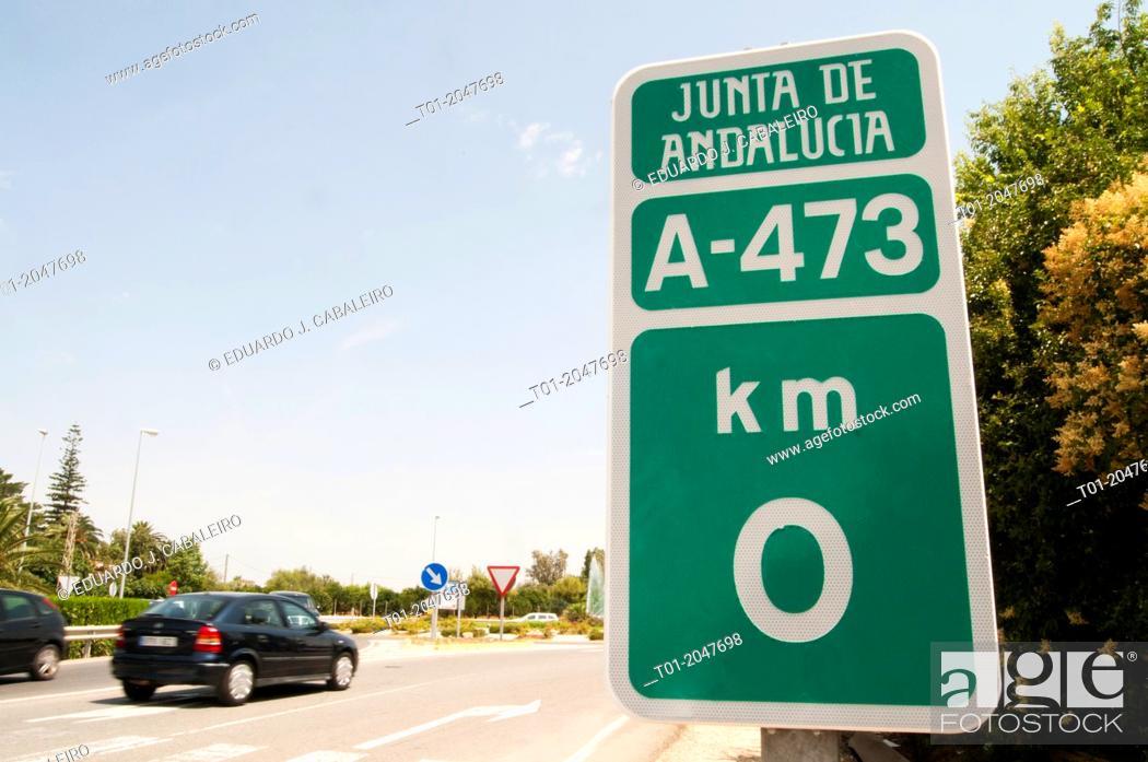 Imagen: Traffic plate in Benacazon. Seville. Spain.