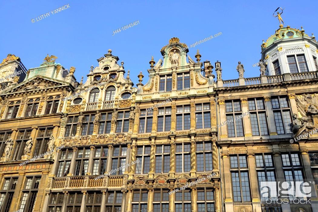 Stock Photo: Belgian, Belgium, Brussels, bruxelles, Europe, grand place, grote markt, western Europe.