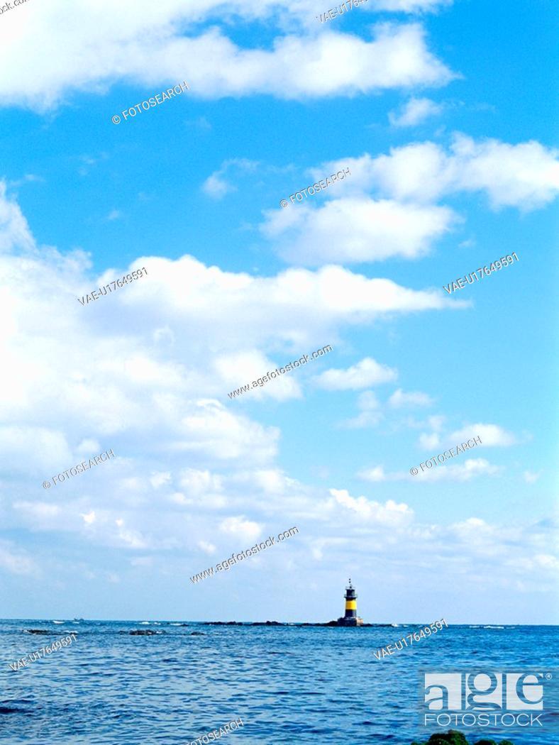 Stock Photo: scenery, cloud, sky, sea, film.