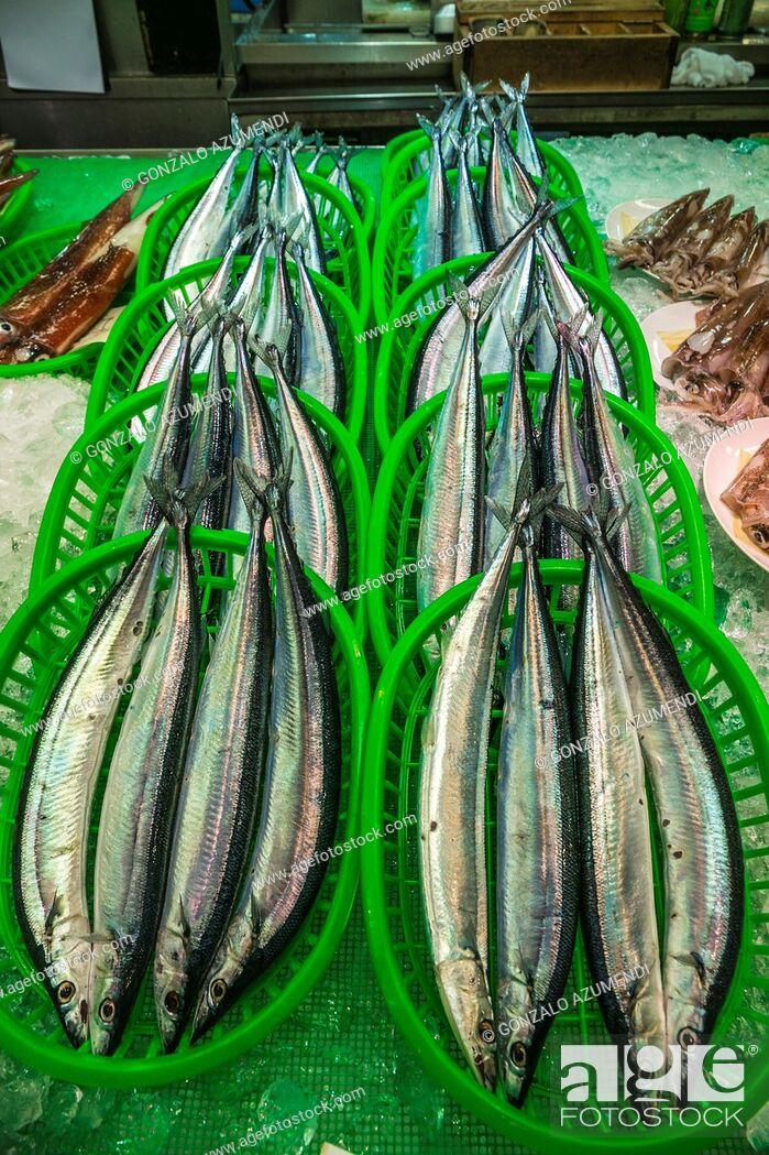 Stock Photo: Fish. Ohmicho Market. Kanazawa. Houshu Island. Ishikawa Prefecture. Japan.